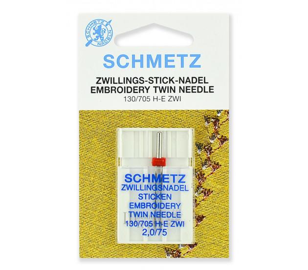 Иглы вышивальные двойные 130/705H-E ZWI № 75/2.0