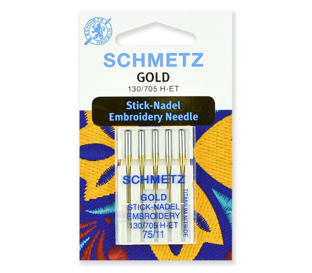 Иглы для вышивки Gold, Titanium Nitride № 75