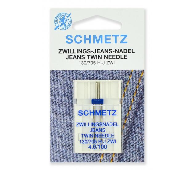 Иглы джинс двойные 130/705H-J ZWI № 100/4.0
