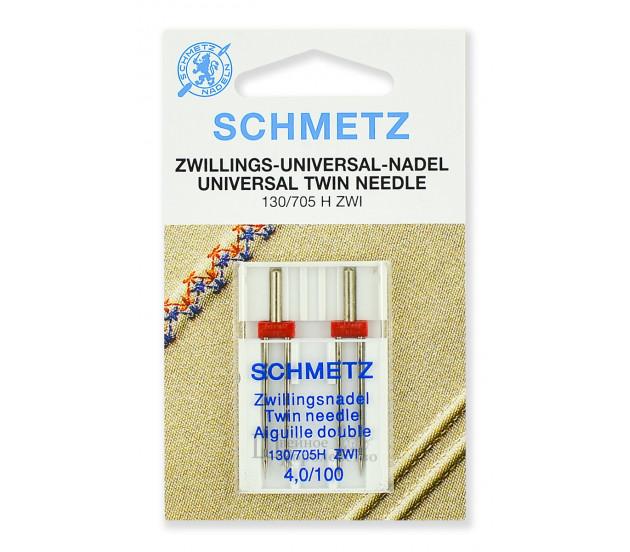 Иглы стандартные двойные 130/705H ZWI № 100/4.0 (2 шт.)
