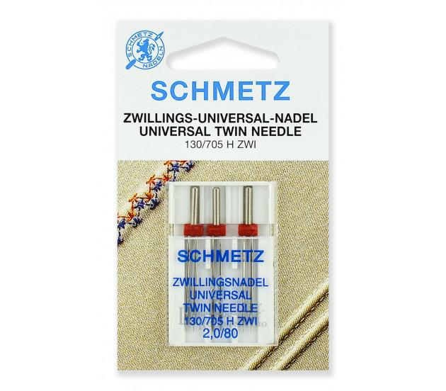 Иглы стандартные двойные 130/705H ZWI № 80/2.0 (3 шт.)
