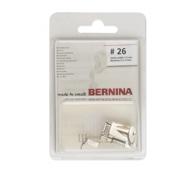 Лапка вышивальная с каплевидным отверстием №26 Bernina