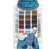 Набор ниток Glamour №12 (40 Glamour*2х1,500м Bobbinfil* CD 42 designs)